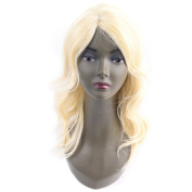 Body Wave Human Hair Wigs Brazilian Virgin Hair Body Curly Wig within Lace for Black Women 613# for Beauty