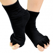 RoseSummer Yoga Sports GYM Five Toe Separator Socks Health Massage Foot Alignment Foot Socks