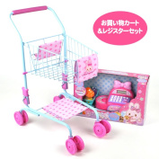 Two points of set mother garden toy eating house of the shopping set ribbon register & shopping cart