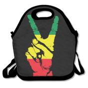Jamaica Finger Lunch Bag Tote Handbag Food Container Cooler Organiser For School Work Outdoor