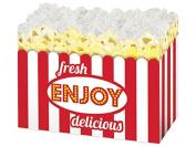 "Large Fresh Popcorn Basket Boxes (6 Pack ) 10-1/4x 6"" x 19cm"