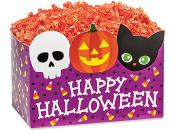 """Large Happy Halloween Basket Boxes (6 Pack ) 10-1/4x 6"""" x 19cm"""