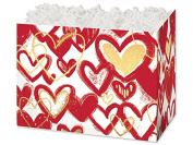 """Large Heart Of Gold (6 Pack ) 10-1/4x 6"""" x 19cm"""