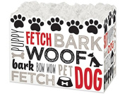 """Large Dog Lovers Basket Boxes (6 Pack ) 10-1/4x 6"""" x 19cm"""
