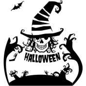 Halloween Wall Sticker, NXDA Scary Removable Decal Mural for Household Room Decorations, 60X60CM