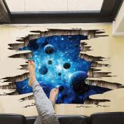 ZTY66 3D Floor/Wall Sticker Removable Mural Decals Vinyl Art Living Room Decors