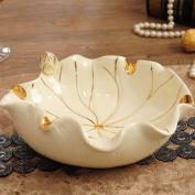 HQLCX Ashtray Jade Porcelain, Lotus Leaf Ashtray, Home Decor, Ceramic Ashtray, 2117.58.5Cm