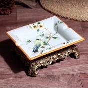 HQLCX Ashtray American Style Ceramic Retro Ashtray 19178Cm