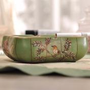 HQLCX Ashtray Love Bird Hand-Painted Ceramic Ashtray Home Furnishing European Decor Decoration 165.513Cm