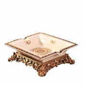 HQLCX Ashtray European Ceramic Ashtray Ashtray 21187Cm Gold Living Room Office Decoration