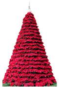 Poinsettia Christmas Tree Life Size Cardboard Cutout SC2025