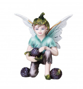 Fairy Garden Flower Boy Fairy with Blue Berries Decorative Mini Garden of Enchantment Figurine 7.6cm