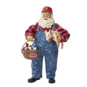 Kurt Adler 28cm Fabriché Farmer Santa with Pig and Basket