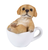 Labrador Puppy Adorable Mini Teacup Pet Pals Puppy Collectible Figurine 8.3cm