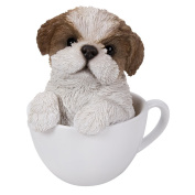 Adorable Teacup Pet Pals Puppy Collectible Figurine 15cm