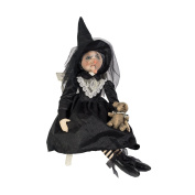 Elenora Witch With Rat Doll Joe Spencer Halloween Gathered Traditions