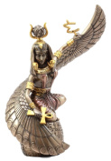 Ebros Gift Egyptian Goddess Mother Isis Ra Holding Ankh Figurine 23cm H Decorative Statue Collectible