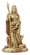 Ebros Gift Pagan Deity Hecate Statue Greek Goddess Of Magic Witchcraft & Necromancy Hekate With She-Dogs Decorative Figurine 27cm H Neutral Finish
