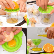 Hongxin 4 in 1 Juice Funnel Cheesons Planing Cup Egg Clear Separator Kitchen Gadgets