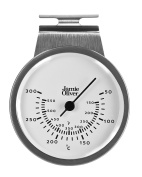 Jamie Oliver Oven Thermometer, Hanging or Standing, Large and Easy to Read - Stainless Steel