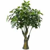 GTidea 1m Artificial Fortune Tree Silk Plants Real Touch Soft Lush Leaves Home Office Arrangements Indoor Outside Greenery Decor