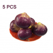 Lorigun Foam Fake Purple Onion Simulation Bubble Fruits & Vegetables Emotion Arrangement Scenes Props Simulation Onions X5Pcs
