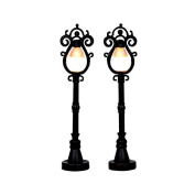 Lemax Village Collection Parisian Street Lamps Set of 2 Battery Operated # 44757