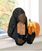 The Lakeside Collection Primitive Halloween Stuffed Crow Shelf Sitter