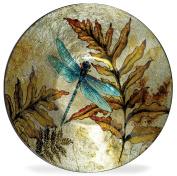 Angelstar 19161 Dragonfly Spirit Round Plate, 18cm - 1.3cm