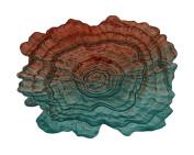 Three Hands Glass Votive Oyster Plate-GR