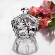 StudioSilversmiths 44039 Crystal Candy Box With Diamond Shaped Finial