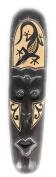 Tribal Chief Tiki Mask 50cm w/ Gecko - Primitive Art   #wib370650g