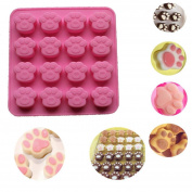 Cake Mould,Hunzed Cat Paw Print Silicone Cookie Cake Candy Chocolate Decorating Mould Tools DIY Soap Ice Cube Mould
