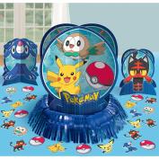 Pokemon Core Pikachu Table Decorating Kit 23 piece Amscan 281859 Birthday Party Supplies