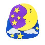 Remeehi Cartoon Animal Hat Preschool Performance Props Caps Kindergarten Baby Christmas New Year Party Supplies moon