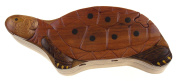 Handmade Carved Turtle Intarsia Wood Puzzle Box Bundled With Hickoryville Instructions