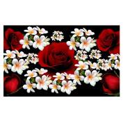 DEESEE(TM) 5D Flower Diamond Rhinestone Pasted Embroidery Painting Cross Stitch Home Decor (J