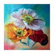 DEESEE(TM) Flower 5D Diamond Rhinestone Pasted Embroidery Painting Cross Stitch Home Decor (B