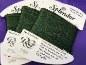 splendour SILK THREAD-colour -1064-DARK FERN GREEN-1 CARD IN THIS LISTING-TOTAL OF 3 AVAILABLE