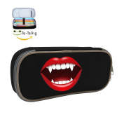 The Zombie Teeth DIY Small Pencil Case Pen Box Cosmetic Bag With Funny Cartoon For Students Girl Boy Women