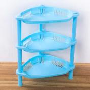 3-Shelf Corner Shelf ,3 Tier Plastic Corner Organiser Bathroom Caddy Shelf Kitchen Storage Rack Holder,Tuscom