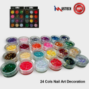 iMustech Nail Art Decoration, DIY Nails, Ultrathin Sequins, Glitter Paillette, 2 Set,12 Cols/Set, Nail Art Designs, 3D Nail Glitter, Nail Art Kit, Various Styles, for Art Projects, Nail, DIY Crafts