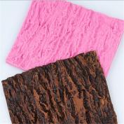 OrliverHL Tree Line Texture Fondant Cake Mould Bark Line Baking Mould For Kitchen Baking Decoration Silicone
