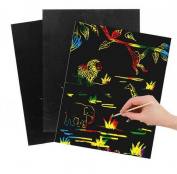 10pcs/lot Size 19x26cm scraping drawing paper painting learning & education toys Environmental protection