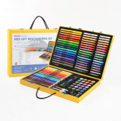 KIDDYCOLOR Deluxe Art Set for Kids 122 Piece with Paper Suitcase,Coloured pencils Crayons,Painting
