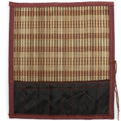 Teagas Chinese Calligraphy Writing Roll-up Bamboo Sumi Brush Holder / Carrier, 35cm x 30cm