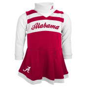 Alabama Crimson Tide NCAA Toddler Girls Cheer Jumper Dress Set w/ Turtleneck