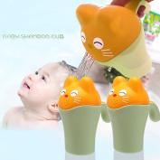QAHEART Baby Bath Waterfall Rinser Kids Shampoo Rinse Cup Cartoon Bath Shower Washing Head