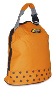 Orange with Brown Polka Dots Insulated Lunch Bag