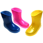 Soft Touch Baby Infant Toddler Rain Boots - Blue, Pink or Yellow in sizes Available in shoe sizes 19-21